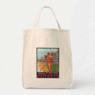 Atlantic City,New Jersey Grocery Tote Bag