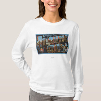 Atlantic City, New Jersey - Large Letter Scenes 2 T-Shirt