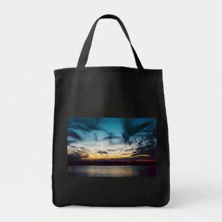 Atlantic City New Jersey Sunset Canvas Bags
