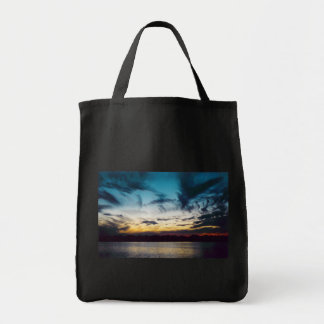 Atlantic City New Jersey Sunset Grocery Tote Bag