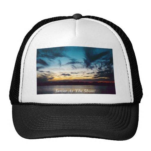 Atlantic City New Jersey Sunset Trucker Hats