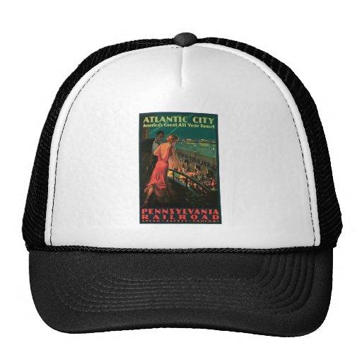Atlantic City New Jersey Vintage Travel Trucker Hat