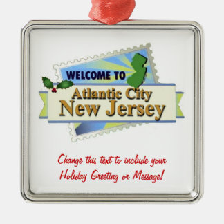 Atlantic City NJ Christmas Ornament