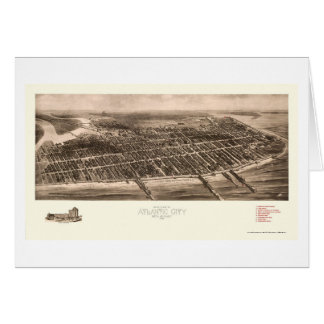 Atlantic City, NJ Panoramic Map - 1909 Card
