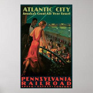 Atlantic City Pennsylvania Railroad Print