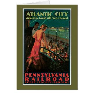 Atlantic City/ Pennsylvania Railroad Vintage Greeting Card