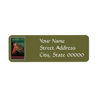 Atlantic City/ Pennsylvania Railroad Vintage Return Address Label