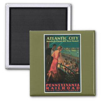 Atlantic City/ Pennsylvania Railroad Vintage Square Magnet