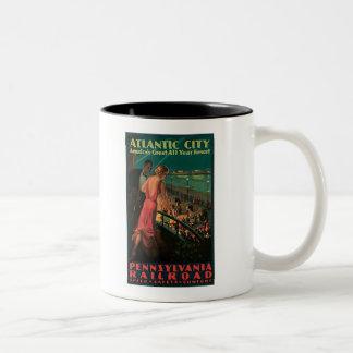 Atlantic City/ Pennsylvania Railroad Vintage Two-Tone Mug