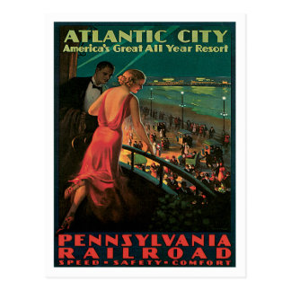 Atlantic City Pennsylvania Railroad Vintage Postcard
