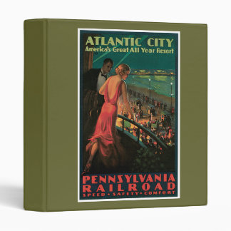 Atlantic City/ Pennsylvania Railroad Vintage Vinyl Binder