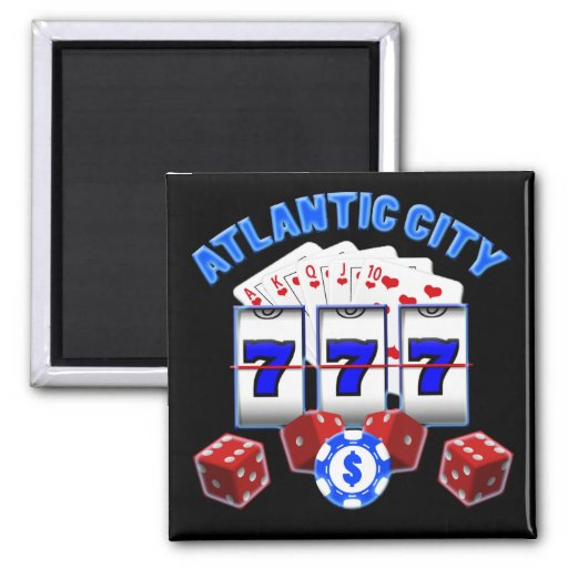 ATLANTIC CITY REFRIGERATOR MAGNET