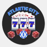 ATLANTIC CITY ROUND STICKER