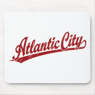 Atlantic City script logo in red Mouse Pad