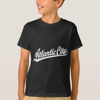 Atlantic City script logo in white T-Shirt