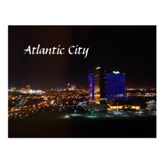 Atlantic City Skyline Postcard