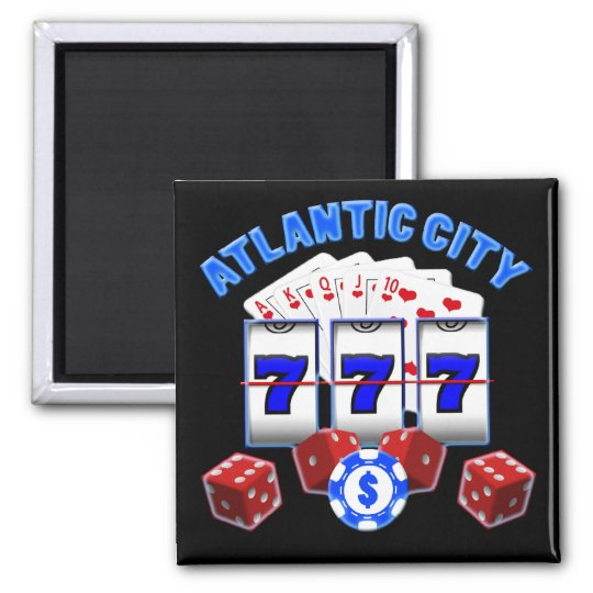 ATLANTIC CITY SQUARE MAGNET