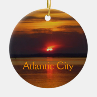 Atlantic City Sunset Ornament