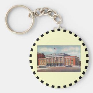 Atlantic City Train Station PRSL 1936 Basic Round Button Key Ring