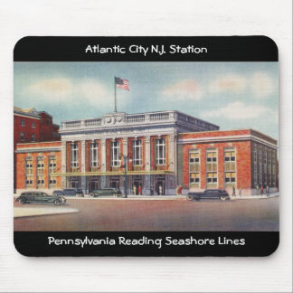 Atlantic City Train Station PRSL 1936 Mouse Mat