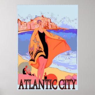 Atlantic City Vintage Poster 2