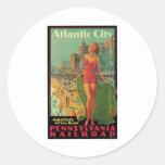 Atlantic City Vintage Travel Sticker