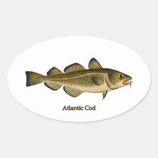 Atlantic Cod Logo Oval Sticker