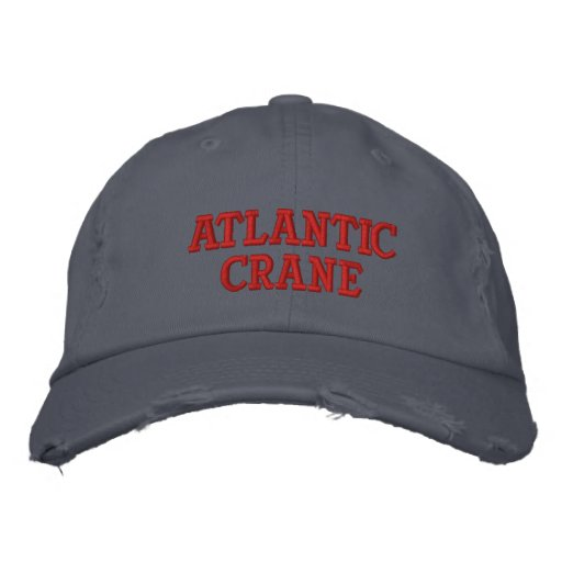 Atlantic Crane Embroidered Baseball Cap