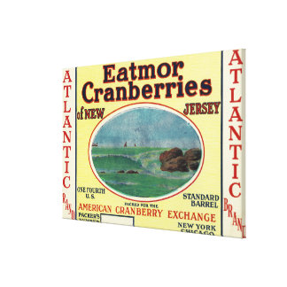 Atlantic Eatmor Cranberries Brand Label Canvas Print