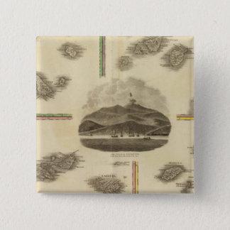 Atlantic islands 15 cm square badge