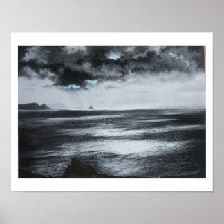 """Atlantic Light""  Black and white print"
