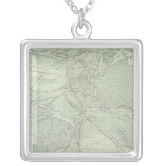 Atlantic Ocean 2 Silver Plated Necklace