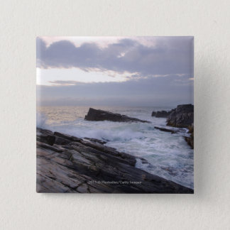 Atlantic Ocean at Sunrise in Maine 15 Cm Square Badge