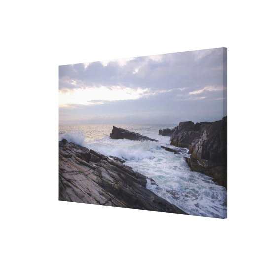 Atlantic Ocean at Sunrise in Maine Canvas Print