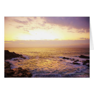 Atlantic Ocean at sunrise, view from Portland Card