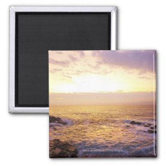 Atlantic Ocean at sunrise, view from Portland Magnet