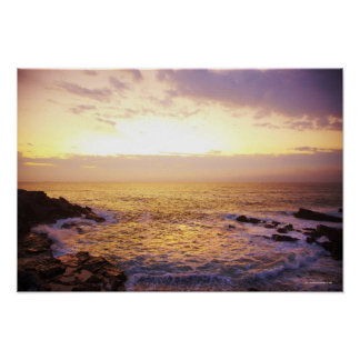 Atlantic Ocean at sunrise, view from Portland Poster