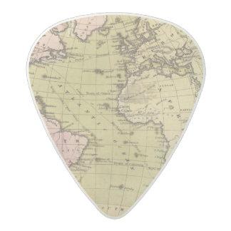 Atlantic Ocean Atlas Map Acetal Guitar Pick