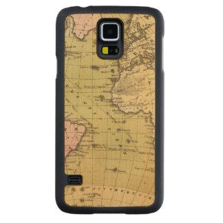 Atlantic Ocean Atlas Map Carved Maple Galaxy S5 Case