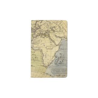 Atlantic Ocean Atlas Map Pocket Moleskine Notebook