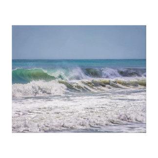 Atlantic ocean breaking waves canvas print