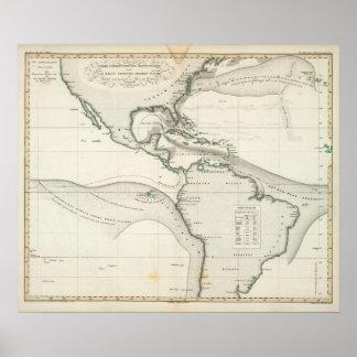 Atlantic Ocean Current Poster
