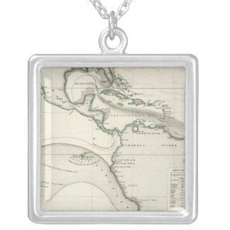 Atlantic Ocean Current Silver Plated Necklace