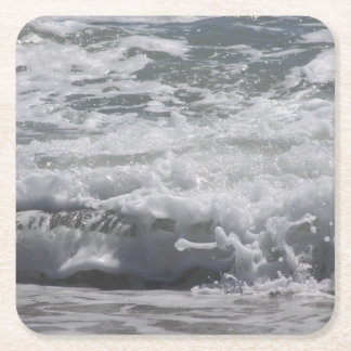 Atlantic Ocean Drink Coastertic Square Paper Coaster