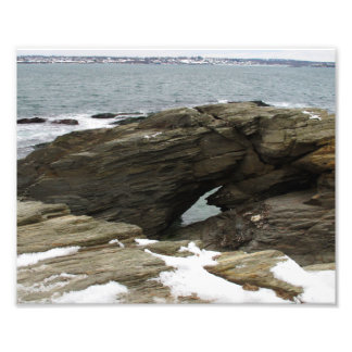 Atlantic Ocean in winter, 8x10 photo