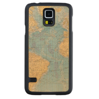 Atlantic Ocean Map Carved Maple Galaxy S5 Case
