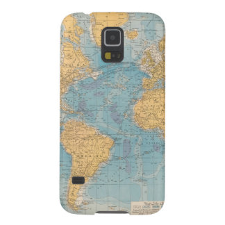 Atlantic Ocean Map Galaxy S5 Cases