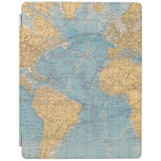 Atlantic Ocean Map iPad Cover