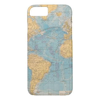 Atlantic Ocean Map iPhone 8/7 Case