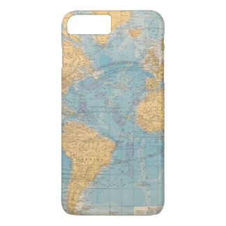 Atlantic Ocean Map iPhone 8 Plus/7 Plus Case